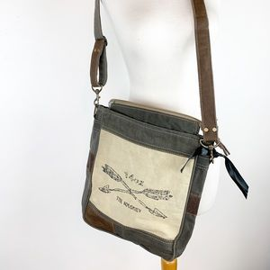 NEW ! CANVAS MESSENGER BAG NWOT